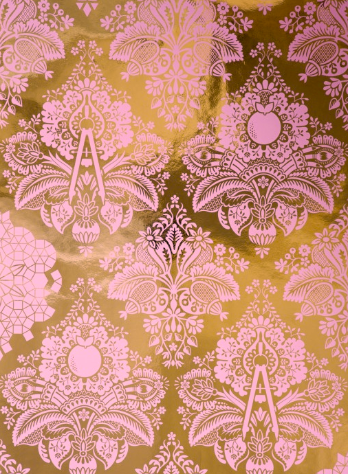 This-by-Flavor-Paper-is-a-soft-baby-pink-whimsical-damask-on-a-metallic-gold-background-T-wallpaper-wp6006065