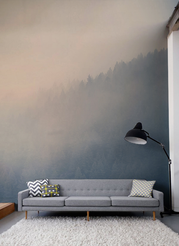 Through-the-Clouds-Forest-Mural-wallpaper-wp30011428