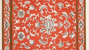 Pattern Oriental style wallpaper