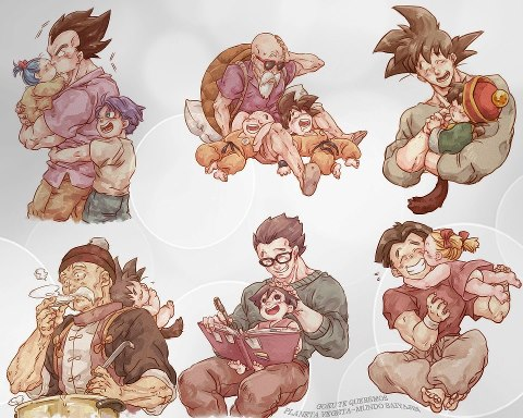 Vegeta-Bulla-and-Trunks-Master-Roshi-Krillin-and-Goku-Goku-and-Gohan-Grandpa-Gohan-and-Baby-G-wallpaper-wp58010445