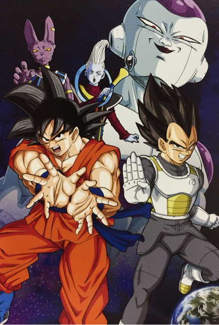 Vegeta-Goku-Whis-Bills-and-Frieza-wallpaper-wp58010447