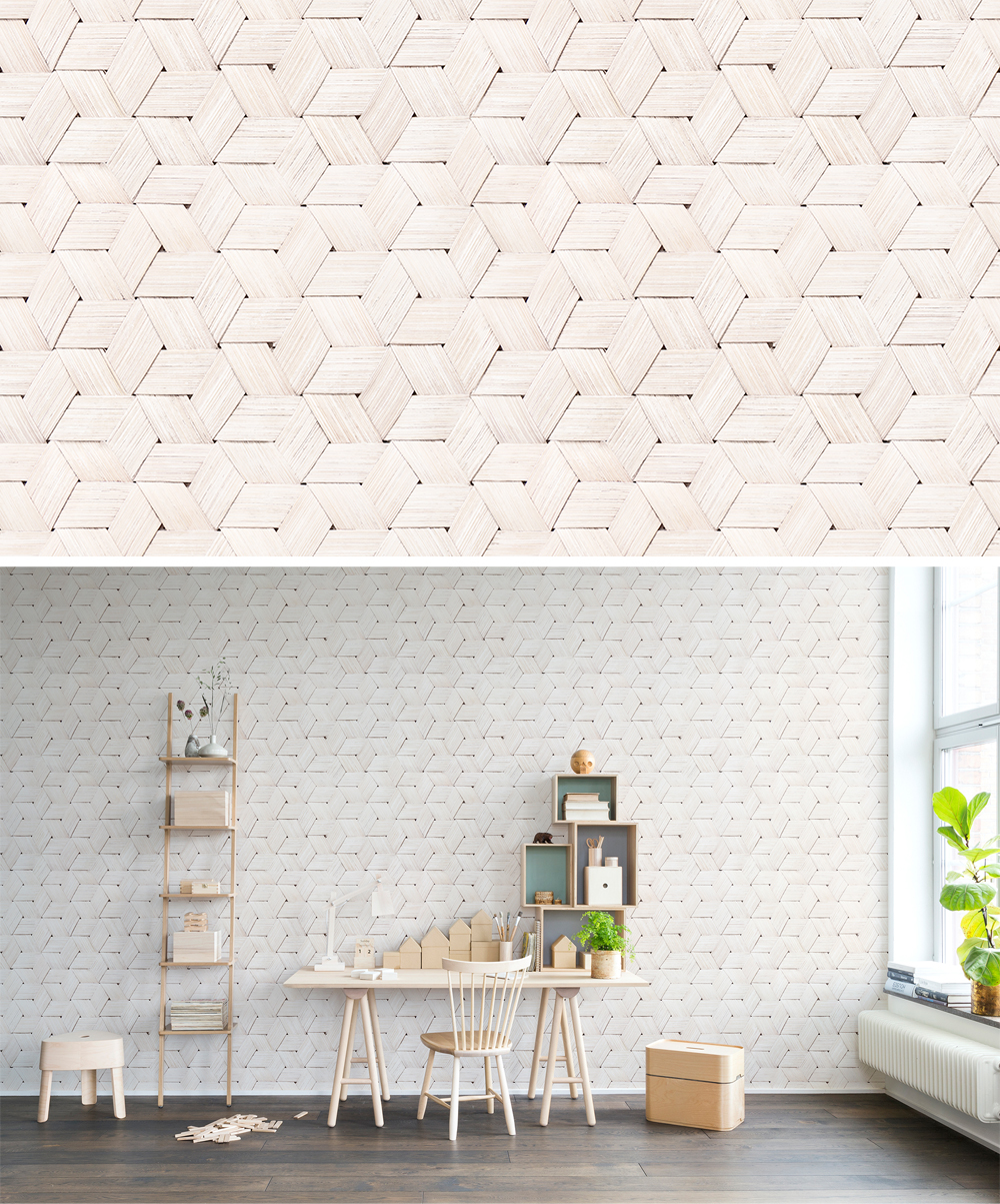 WALL-MURAL-BIRCH-BRAIDS-WHITE-WOOD-RHOMBS-HEXAGONS-HANDICRAFT-wallpaper-wp44012601