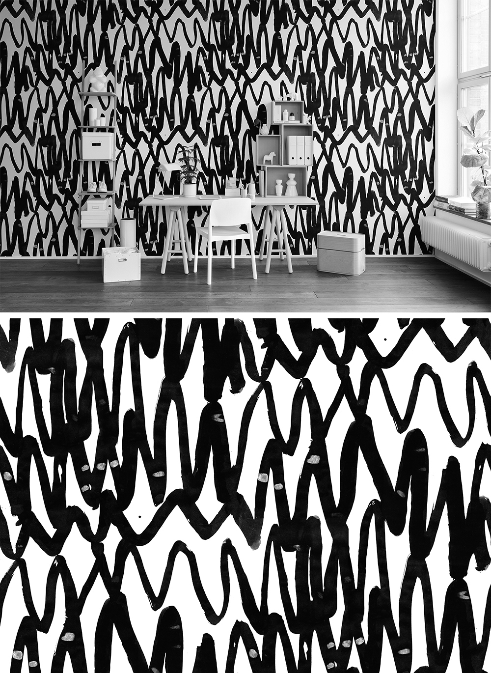 WALL-MURAL-BLACK-AND-WHITE-LINES-CHEVRON-CRAZY-GRAPHICALLY-PLAYFUL-wallpaper-wp44012604