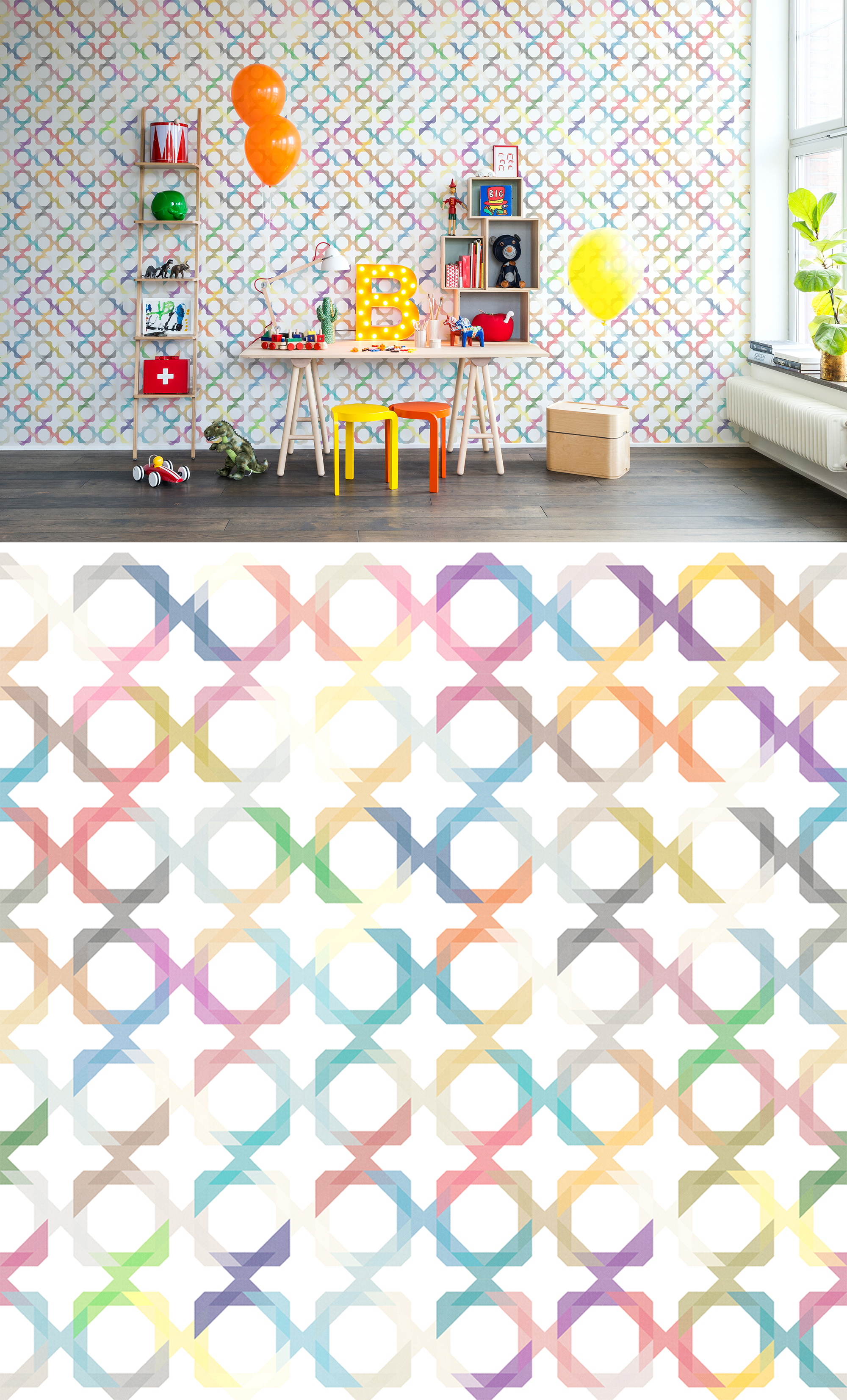 WALL-MURAL-COLOURFUL-PLAYFUL-TRELLIS-LINES-GRAPHICALLY-PATTERN-C-wallpaper-wp44012612