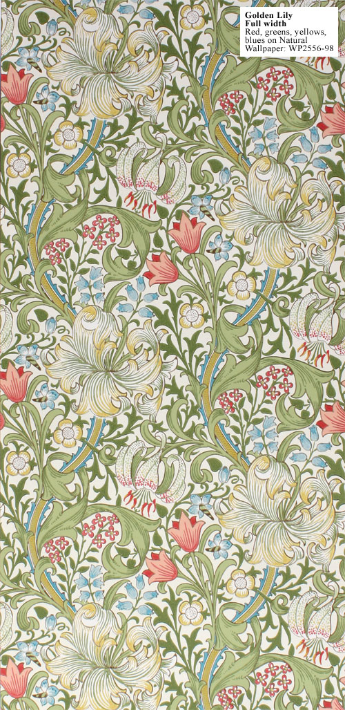 William-Morris-Golden-Lily-Full-Width-Red-Greens-yellows-blues-on-Natural-WP-wallpaper-wp50014105