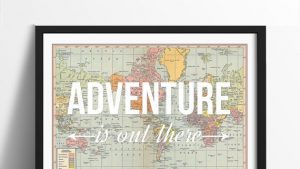 Adventure is out there wallpaper