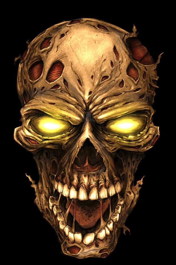 Zombie-Skull-Finger-Knuckle-Keychain-Green-wallpaper-wp4211012