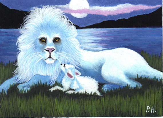 aceo-print-lion-and-the-lamb-by-WoundedTreeGallery-on-Etsy-wallpaper-wp5203797