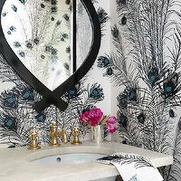architectural-digest-Christina-Murphy-Interiors-Glam-bathroom-with-black-blue-peacoc-wallpaper-wp5004746