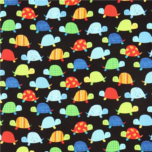 black-turtle-animal-fabric-Timeless-Treasures-USA-wallpaper-wp3003753