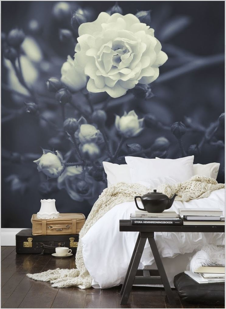 botanical-photo-mural-in-a-bedroom-wallpaper-wp4604387