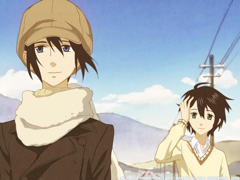 brunettes-green-eyes-nabari-no-ou-anime-anime-boys-yoite-scarf-miharu-rokujou-hats-fresh-new-hd-wall-wallpaper-wp3403532