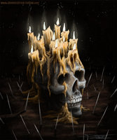candles-on-skull-by-AtomiccircuS-wallpaper-wp4405544