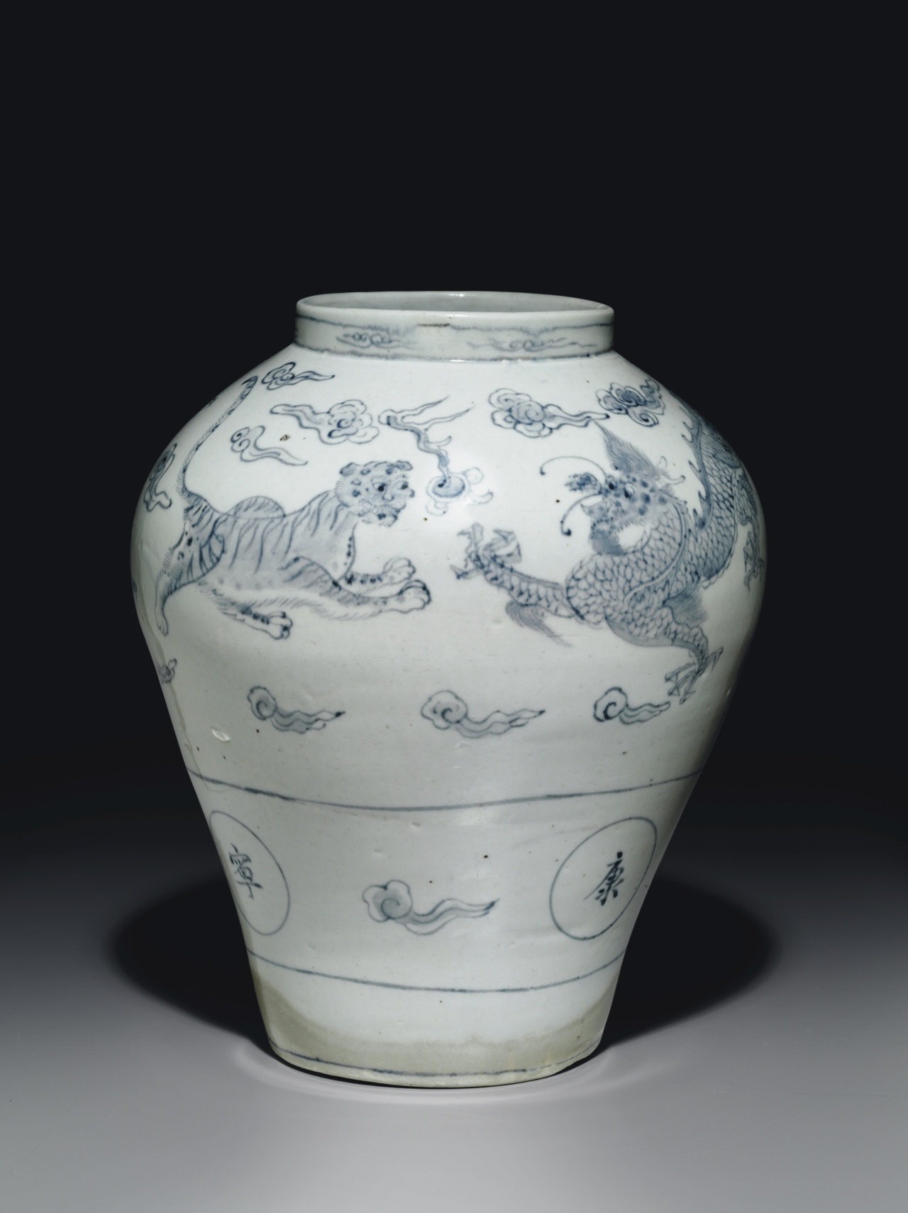 christiesauctions-An-Important-Blue-and-White-Porcelain-Jar-with-Dragons-and-Tigers-wallpaper-wp5603867
