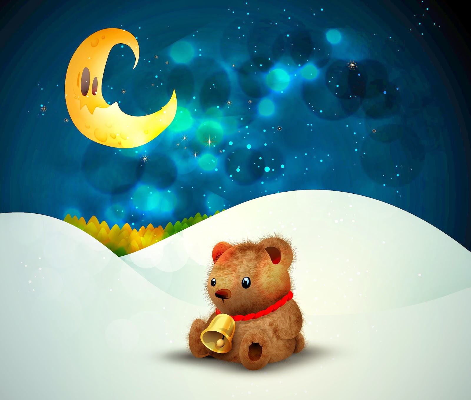 cute-little-teddy-bear-christmas-snow-moon-night-stars-image-x-wallpaper-wp3404353