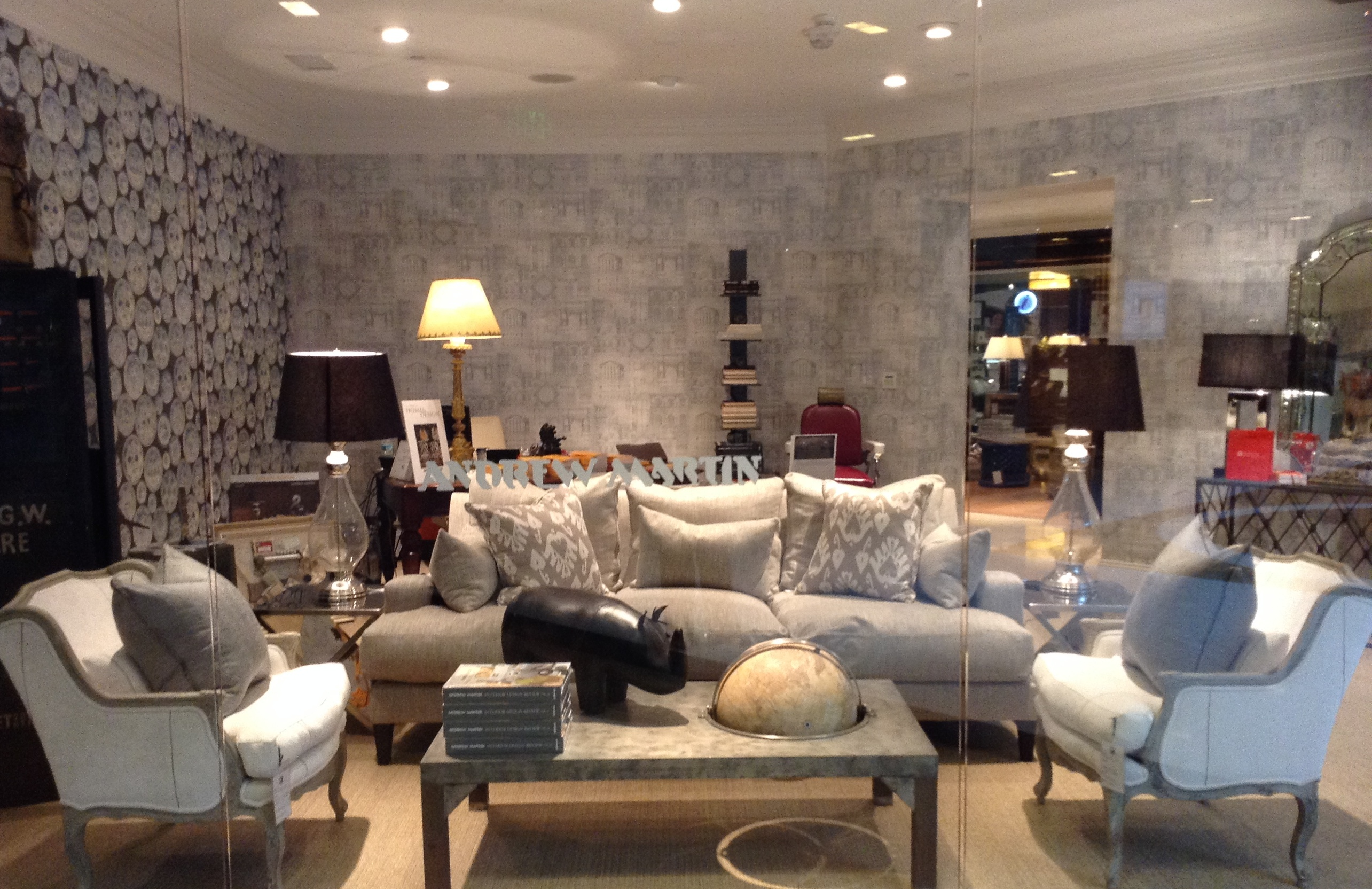 ens-Sofa-with-pillows-in-our-Giza-taupe-fabric-Pair-of-Alfred-Chairs-surrounding-Andrew-Marti-wallpaper-wp5604377