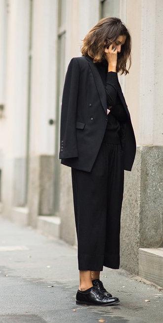 fashion-director-Isabelle-Kountoure-in-a-black-blazer-culottes-and-oxfords-wallpaper-wp46011487-1