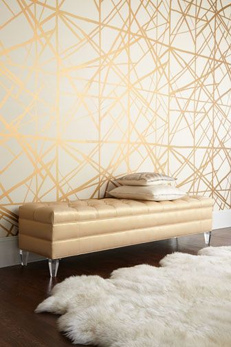 gold-lines-modern-pattern-on-decorative-wall-WITH-A-SUPER-TRADITIONAL-BUFFET-TO-OFFSET-MODERN-wallpaper-wp5008069