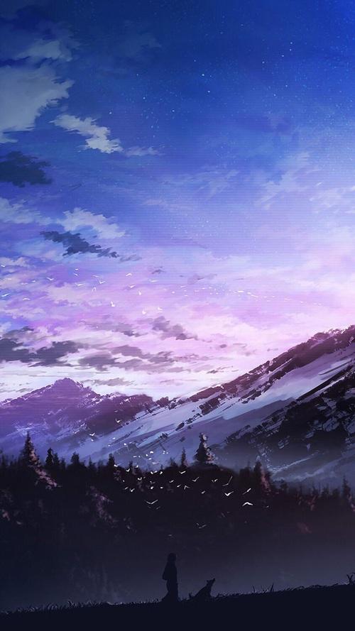 grafika-anime-sunrise-and-fantastic-landscape-wallpaper-wp4606406