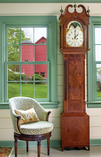green-trim-grandfather-clock-wallpaper-wp425879