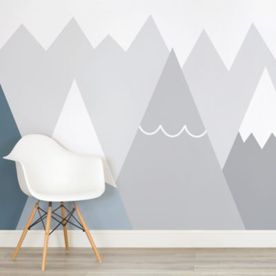 kids-blue-and-grey-mountains-nursery-square-wall-mural-wallpaper-wp4005893