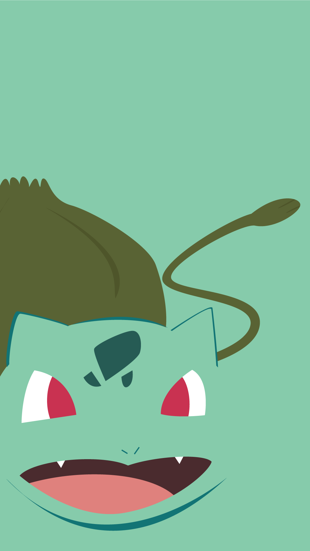 minimalistic-pokemon-go-bulbasaur-mobile-wallpaper-wp50010285