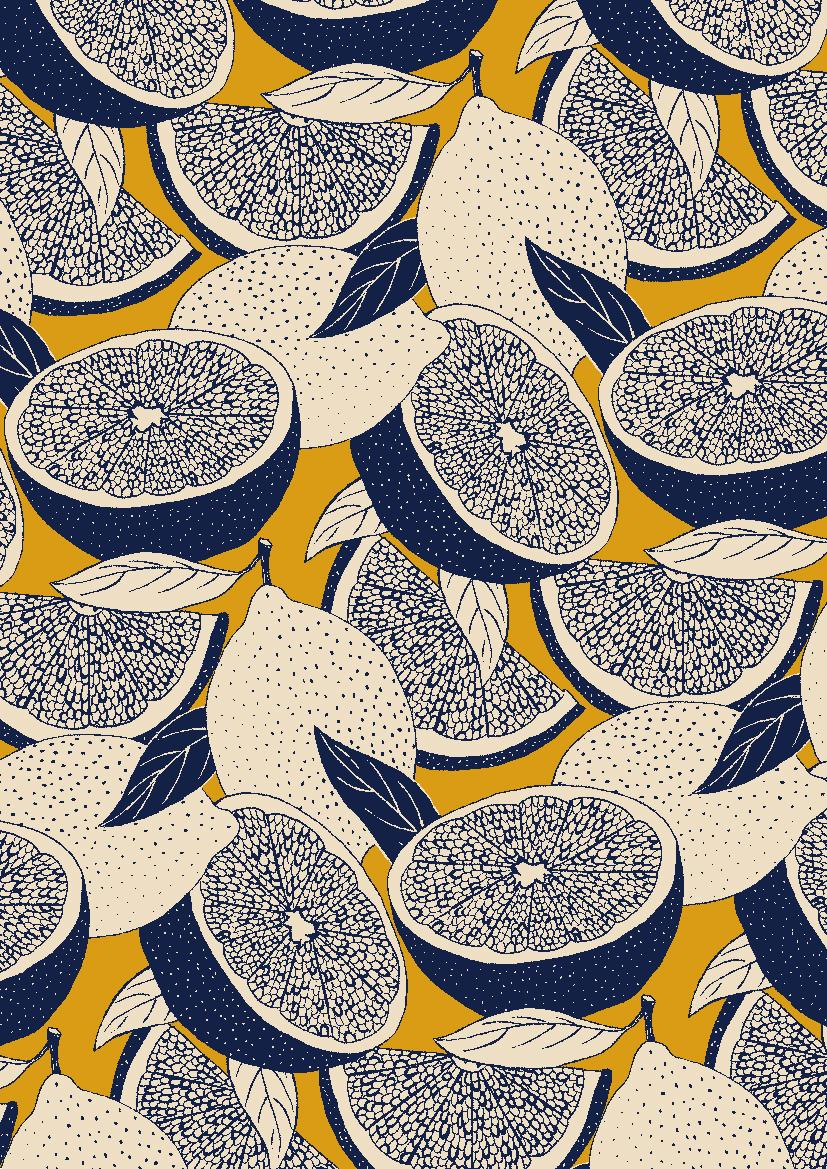 pattern-by-Minakani-for-Naf-Naf-minakani-nafnaf-fruits-lemons-grapefruits-pulp-leaves-wallpaper-wp50011049