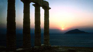 Historische Ruinen Tapete