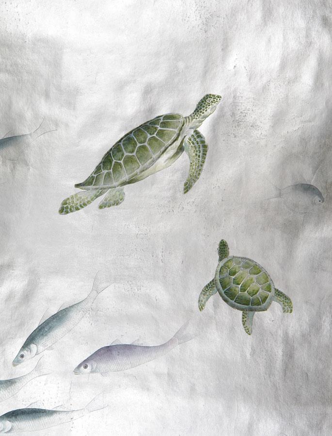 turtle-fish-custom-by-de-Gournay-turtle-fish-wallpaper-wp58010342-1