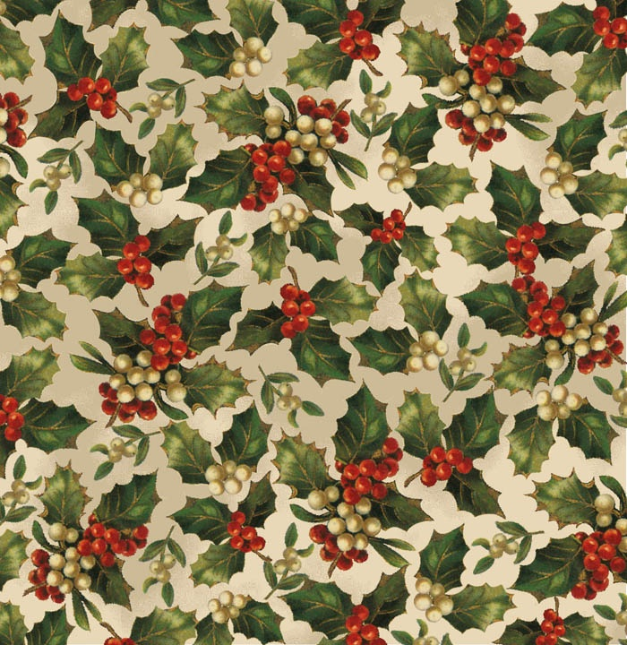 victorian-christmas-wrapping-paper-holly-berries-on-white-background-Bing-Images-wallpaper-wp46011329