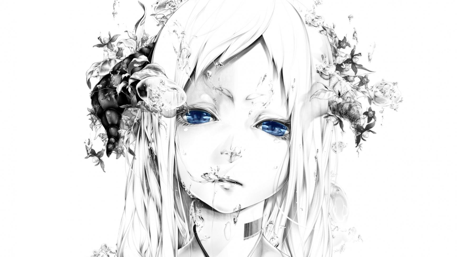 1920x1080-art-bouno-satoshi-girl-face-white-background-graphic-monochrome-blue-eyes-wallpaper-wp380899