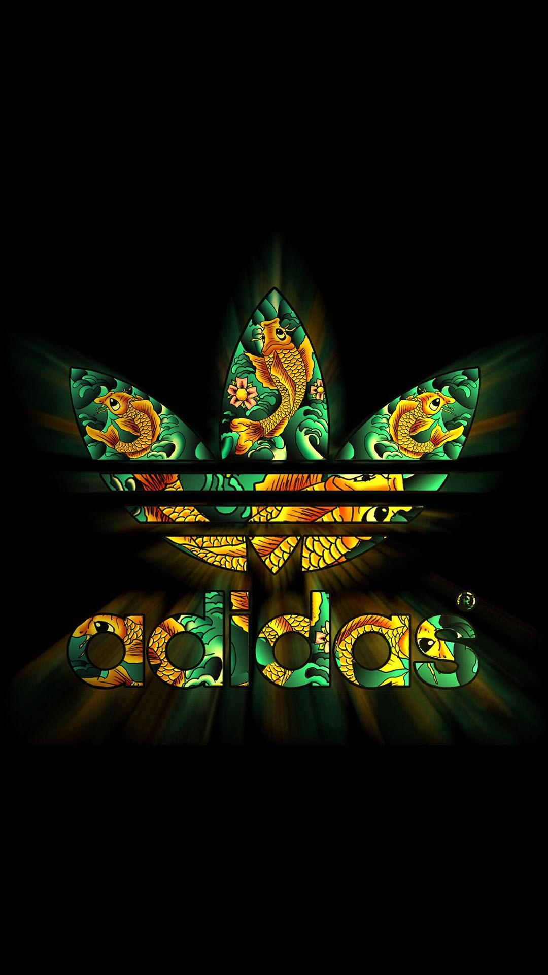 Adidas-Dark-Logo-Pattern-Shiny-iPhone-plus-wallpaper-wp3602241