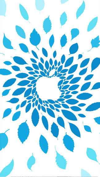 Apple-Blue-Leaf-iPhone-Plus-wallpaper-wpc5802204