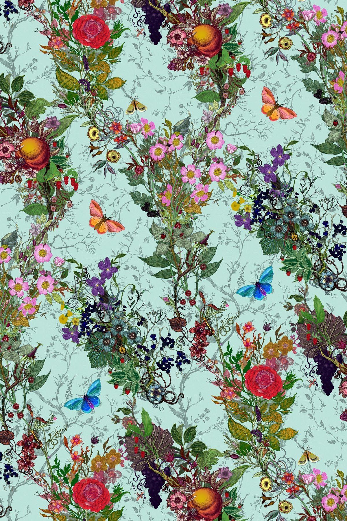 Beautiful-floral-flower-rose-lilac-butterfly-butterflies-spring-garden-red-blue-green-orange-purple-wallpaper-wpc9002694