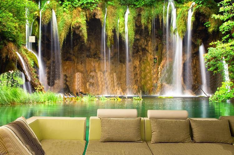 C-I-Modern-Simple-Style-Background-Murals-Landscape-Falls-Living-Room-wallpaper-wp3603782