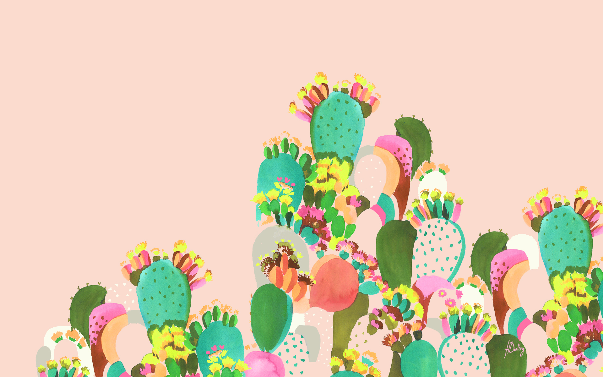 Cactus-by-Helen-Dealtry-wallpaper-wpc5803142