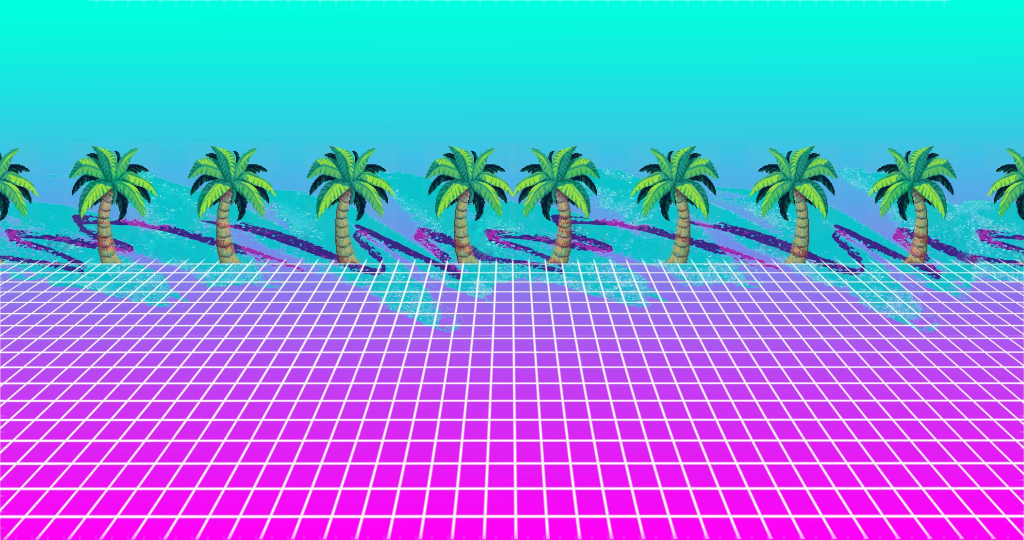 Calm-Palm-vaporwave-x1080-background-for-iPad-mini-air-pro-laptop-dquocbuu-wallpaper-wpc9003303