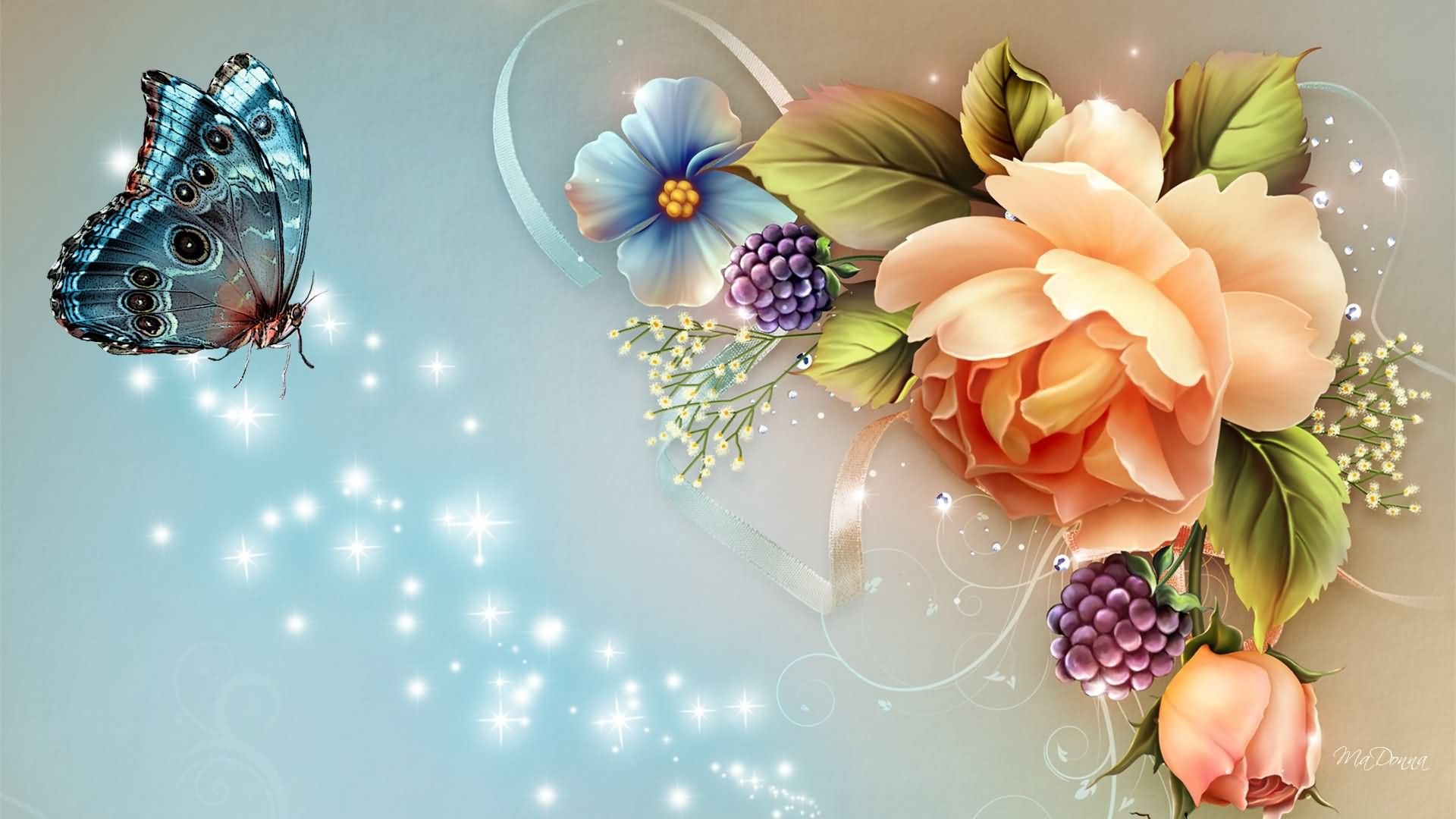 Collection-«Beautiful-Flowers-»-×-wallpaper-wpc58010042