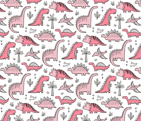 Dinosaurs-in-Pink-fabric-by-caja-design-on-Spoonflower-custom-fabric-wallpaper-wpc5804140