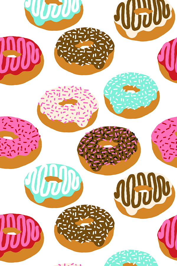 Doughnuts-by-charlottewinter-Pink-turquoise-chocolate-and-sprinkles-Colorful-doughnuts-pattern-a-wallpaper-wpc5804239