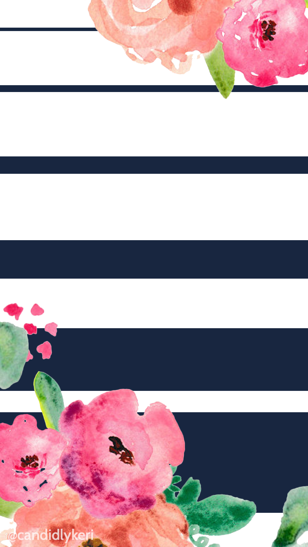 Flower-and-navy-stripe-cute-you-can-download-for-free-on-the-blog-For-any-device-mobile-wallpaper-wpc5804862
