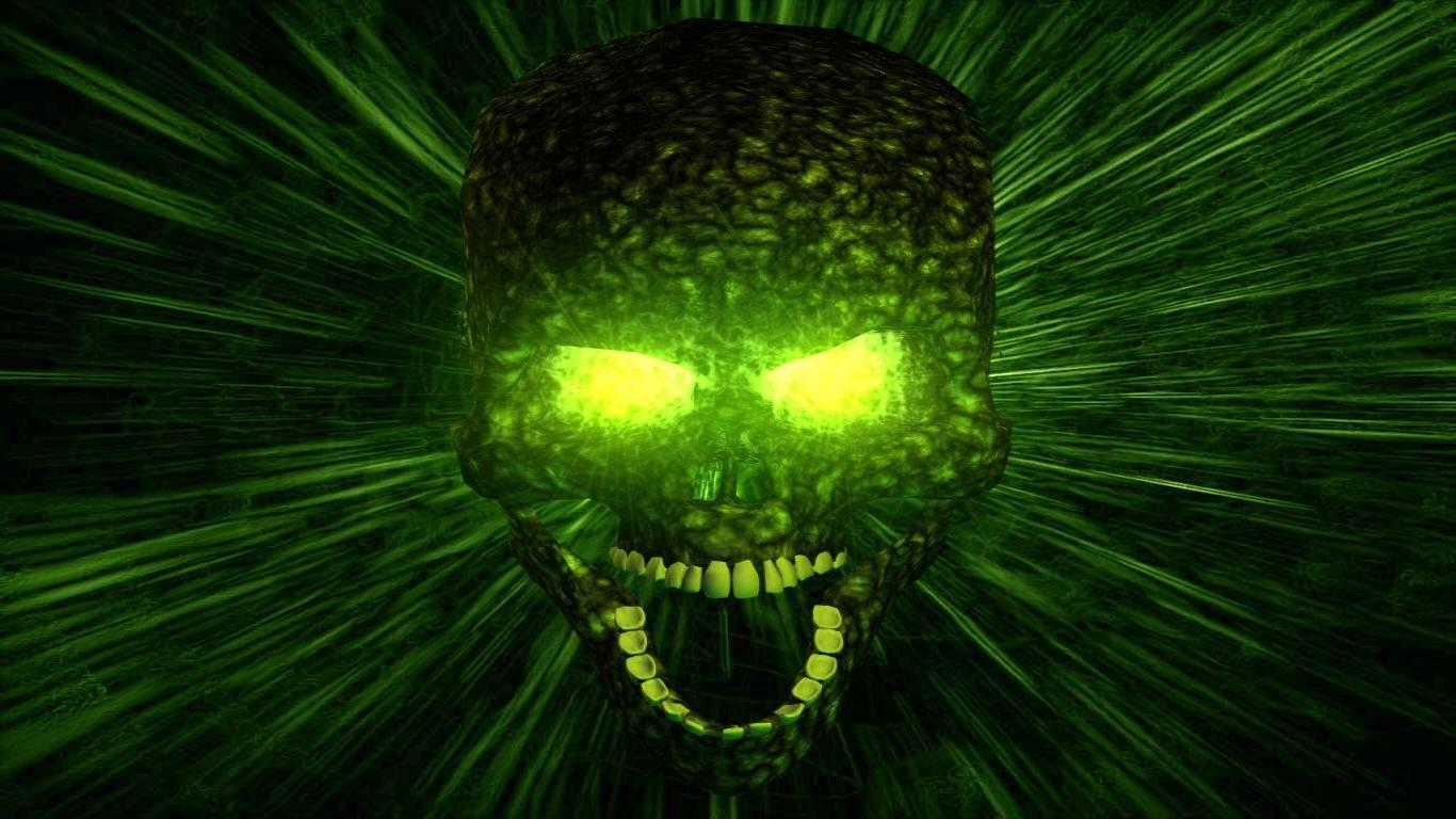 Free-Scream-Skull-Dark-Green-Windows-wallpaper-wpc5805129