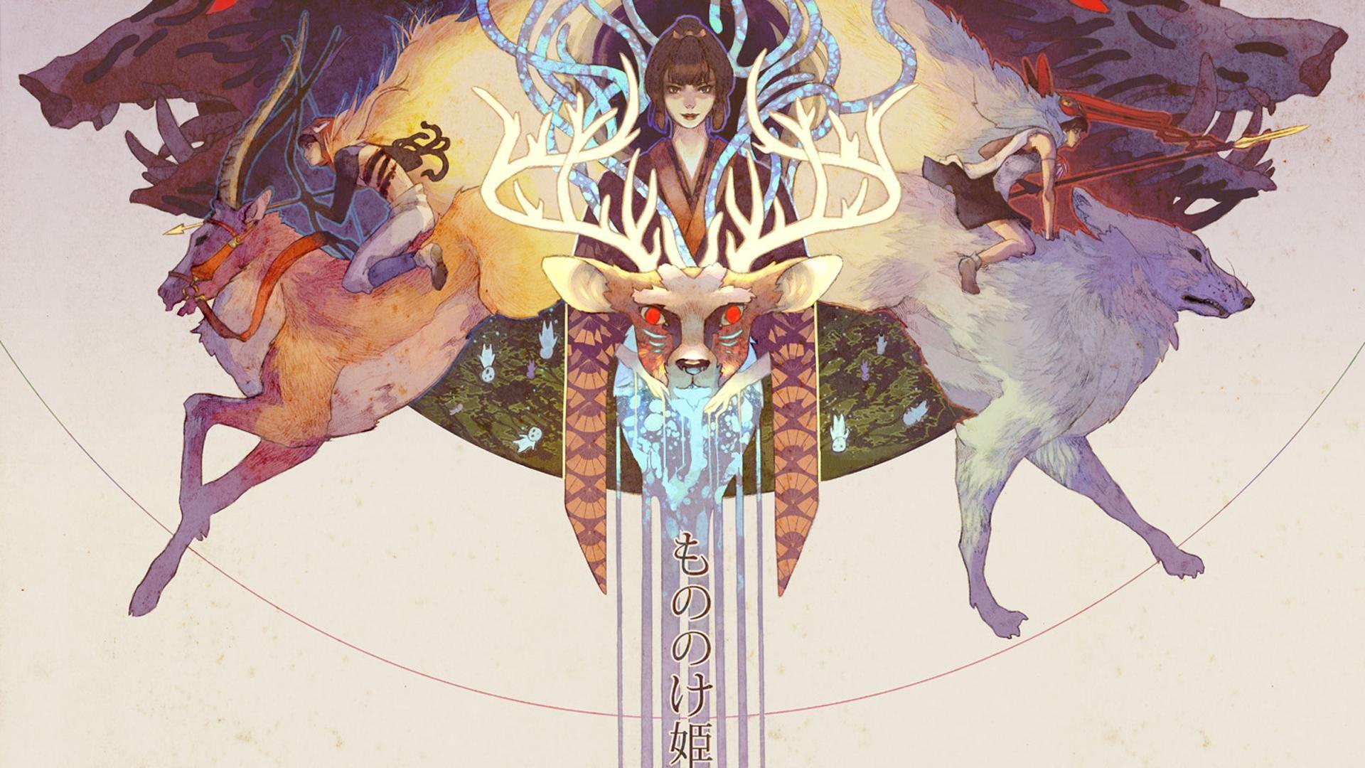 General-1920x1080-Princess-Mononoke-deer-anime-artwork-Studio-Ghibli-wallpaper-wp3606117