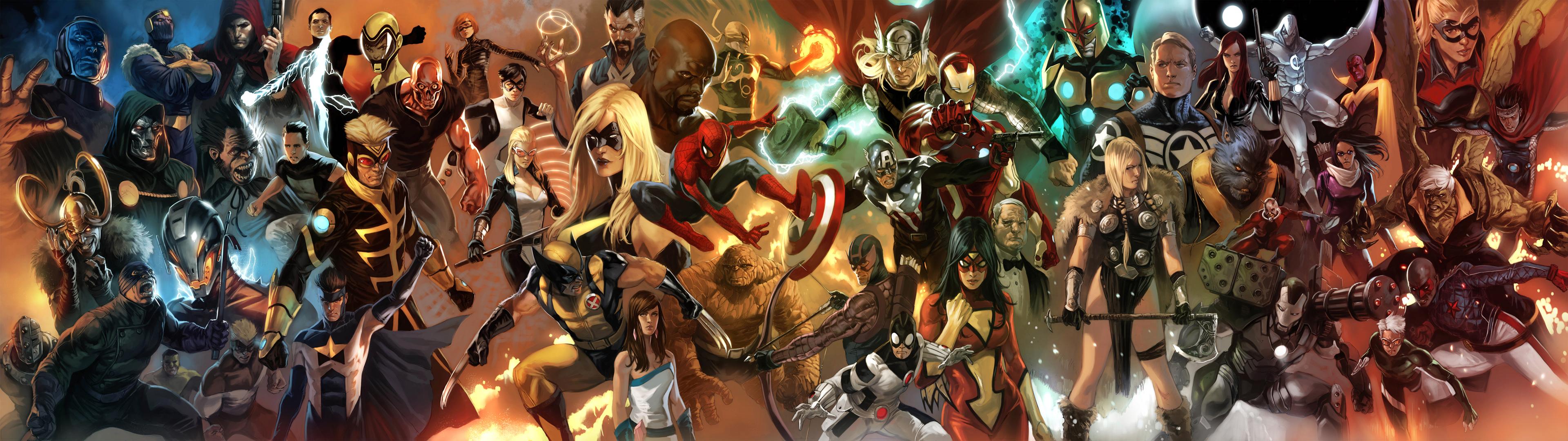 General-x1080-dual-monitors-multiple-display-Marvel-Comics-comics-Spider-Man-Dr-Doom-Wolverine-wallpaper-wp3805876