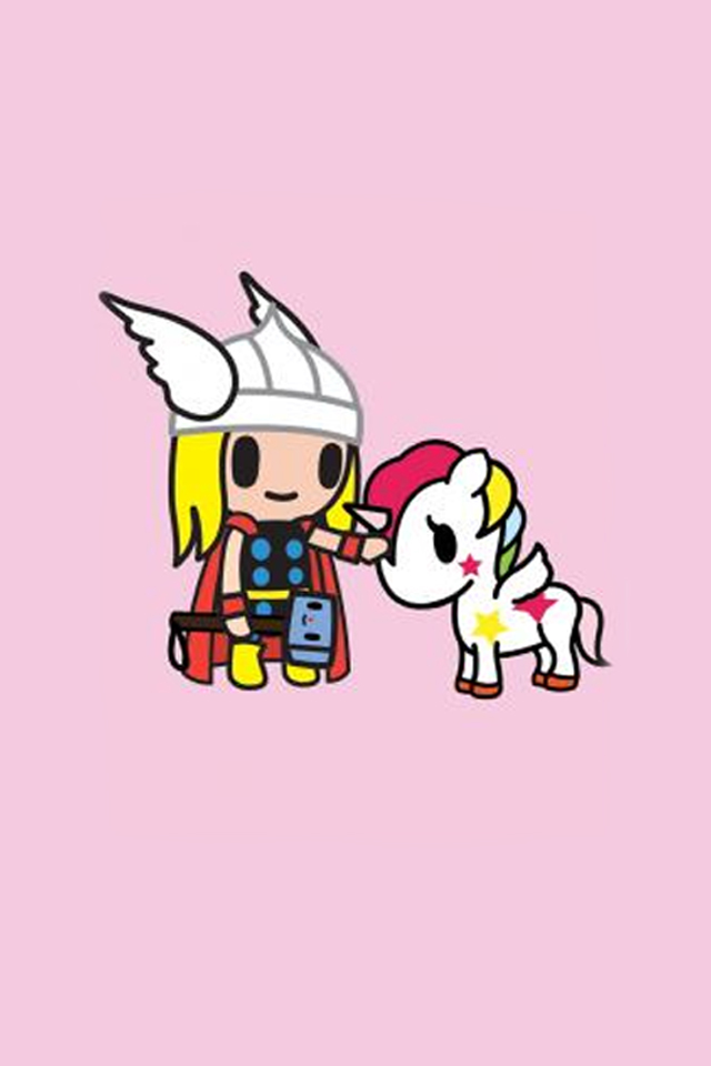 Just-made-tokidoki-marvel-iphone-…-Thor-wallpaper-wp3607626