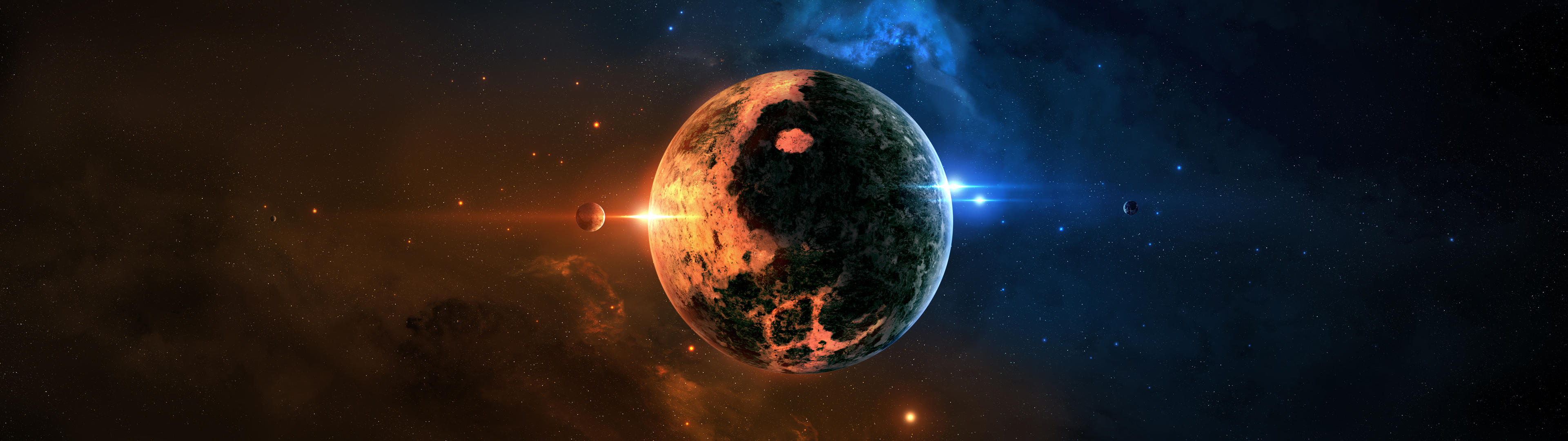 Planet-In-Outer-Space-Dual-Screen-x1080-wallpaper-wp3809251