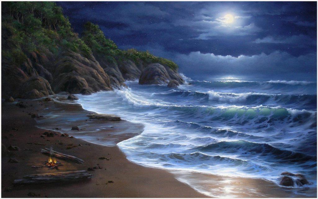 Sea-Waves-And-Beautiful-Night-sea-waves-and-beautiful-night-1080p-sea-waves-a-wallpaper-wpc5808646