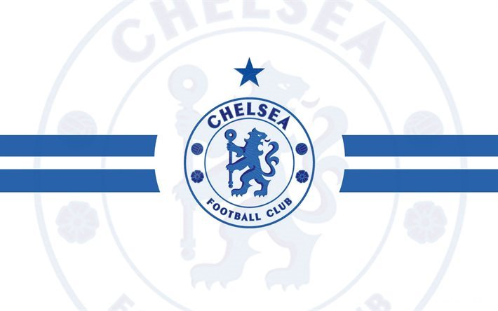 Télécharger-fonds-décran-Premier-League-Chelsea-FC-fond-blanc-fan-art-wallpaper-wpc5809765