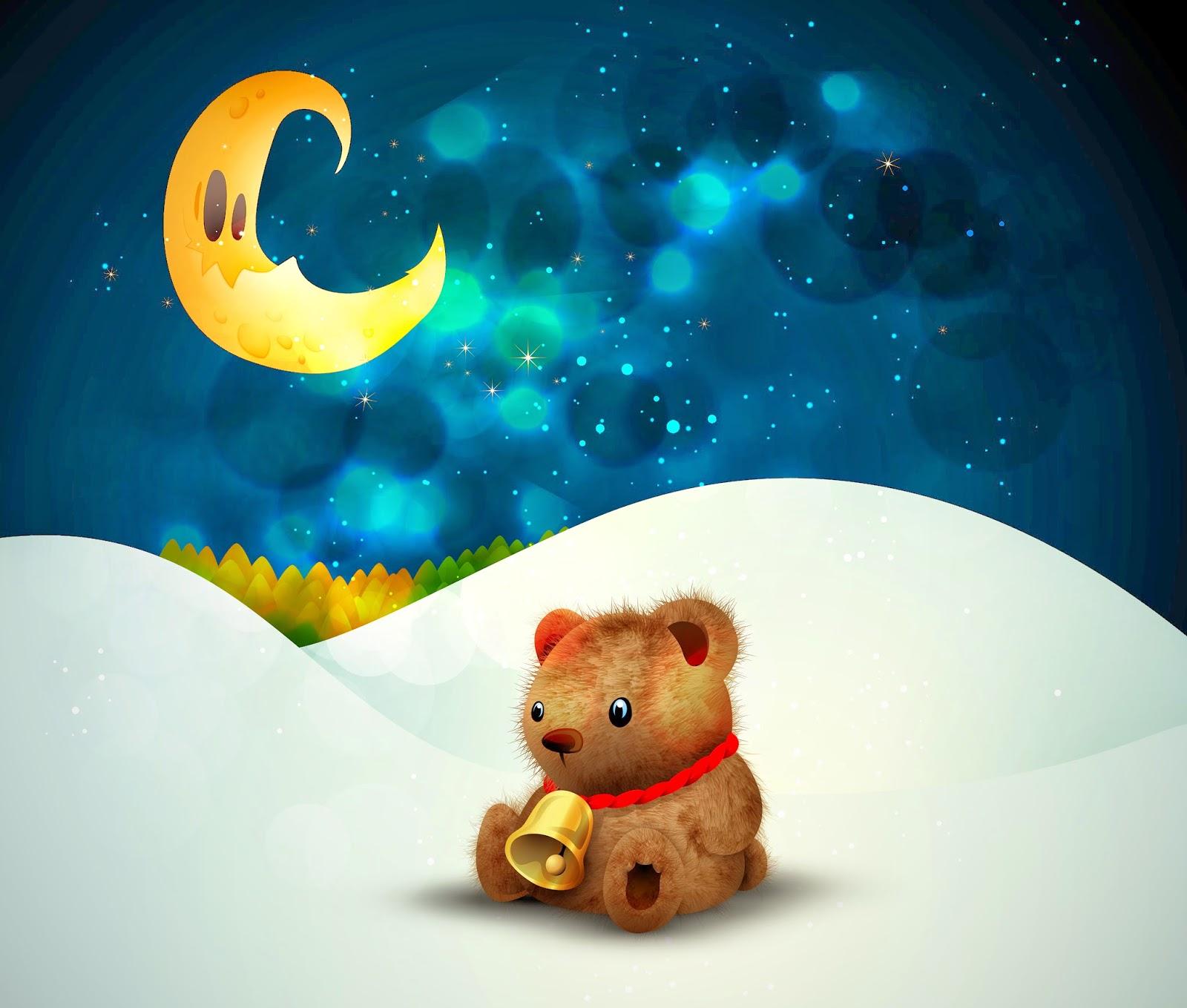 cute-little-teddy-bear-christmas-snow-moon-night-stars-image-x-wallpaper-wp3804277
