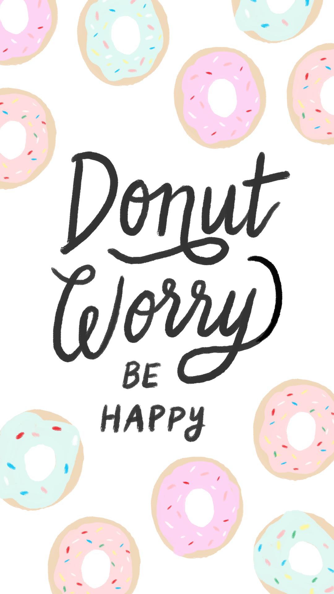 iphone-donut-worry-×-pixels-wallpaper-wpc5806401